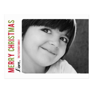 Simple Message Christmas/ Holiday Photo Card