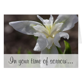 Simple message of sympathy in time of sorrow card