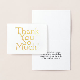 """Simple, Minimal & Basic """"Thank You So Much!"""" Card"""