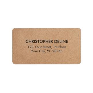 Simple Minimal Elegant Kraft Paper Business Label