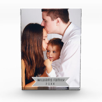 Simple Minimal Modern Custom Family Photo and Name