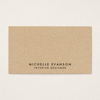 Simple Minimal Tan Kraft Look Rustic Business Card