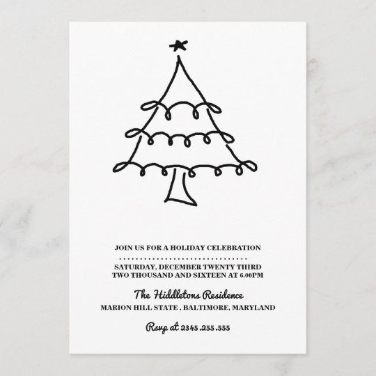 Minimalist Christmas.Simple Minimalist Christmas Tree Holiday Party