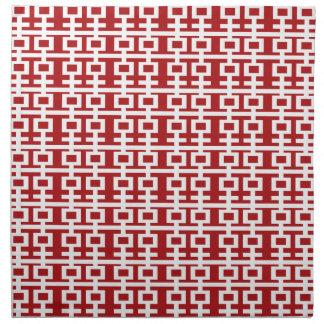 Simple Minimalist Double Happiness Chinese Wedding Cloth Napkin