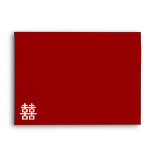 Simple Minimalist Double Happiness Chinese Wedding Envelope