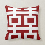 Simple Minimalist Double Happiness Chinese Wedding Throw Pillow