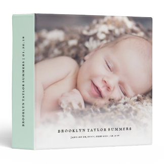 Simple Minimalist Modern New Baby First Year Photo Binder