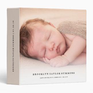 Simple Minimalist Modern New Baby First Year Photo Vinyl Binder