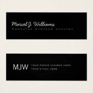 simple minimalist modern professional blk. mini business card
