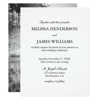 Simple Minimalist Photo Wedding Invitation
