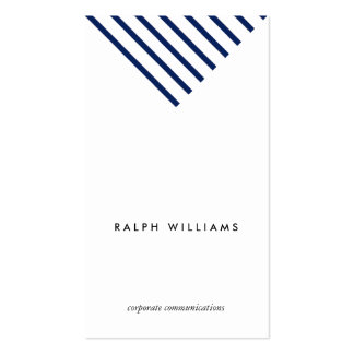 Simple Minimalist professional blue nautical lines Double-Sided Standard Business Cards (Pack Of 100)
