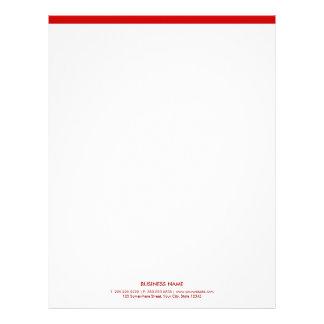 Simple Minimalist Red Border Letterhead