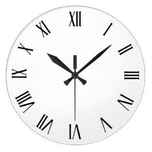 Roman Numerals Wall Clocks Zazzle