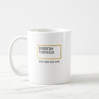 simple minimalist style elegant white coffee mug