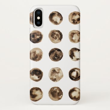Simple Minimalist Watercolor Circles Pattern iPhone XS Case