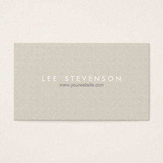 Simple Minimalistic Beige Modern Elegant Business Card