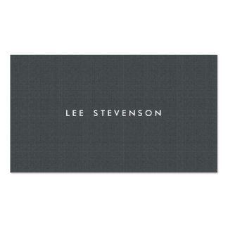 Simple Minimalistic Charcoal Gray Texture Look Double-Sided Standard Business Cards (Pack Of 100)