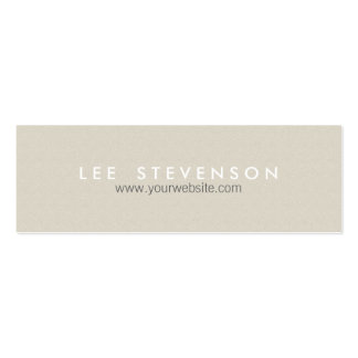 Simple Minimalistic Solid Beige Texture Double-Sided Mini Business Cards (Pack Of 20)