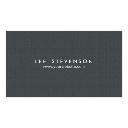 Simple Minimalistic Solid Black Professional Business Card Template