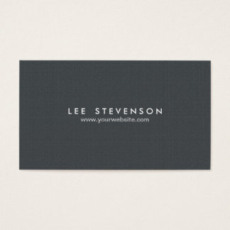 Simple Minimalistic Solid Black Professional Business Card