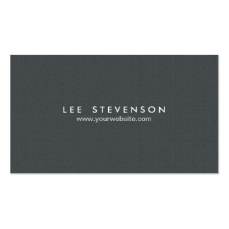 Simple Minimalistic Solid Black Professional Double-Sided Standard Business Cards (Pack Of 100)