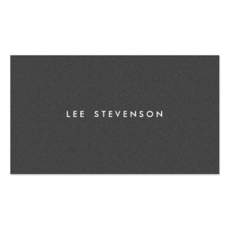 Simple Minimalistic Solid Charcoal Gray Wool Look Business Card