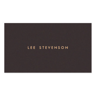 Simple Minimalistic Solid Dark Brown Suede Look Double-Sided Standard Business Cards (Pack Of 100)