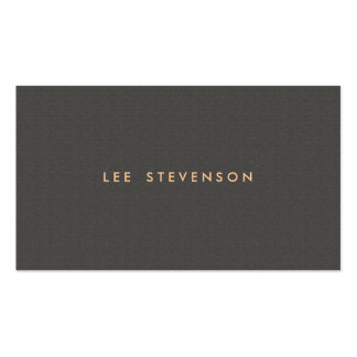 Simple Minimalistic Solid Dark Taupe Texture Look Business Card