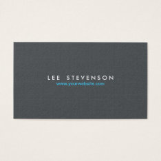 Simple Minimalistic Solid Gray Linen Look Business Card at Zazzle