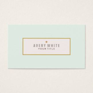 Simple Mint Blue Vintage Meets Modern Style Business Card