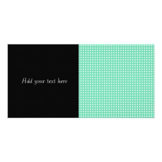Simple Mint Green White Geometric Pattern Card