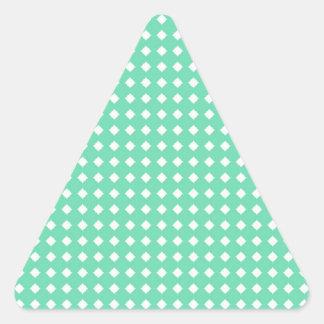 Simple Mint Green White Geometric Pattern Sticker