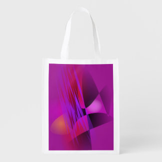Simple Misty Abstract Balance Art by masabo Reusable Grocery Bags