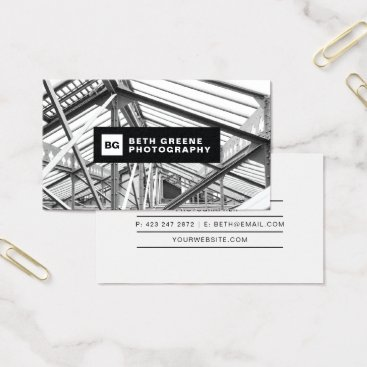 Professional Business Simple modern B&W photography business card