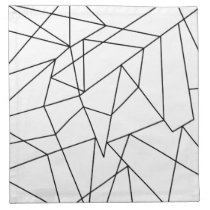 Simple Modern Black and White Geometric Pattern Napkin