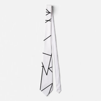 Simple Modern Black and White Geometric Pattern Tie