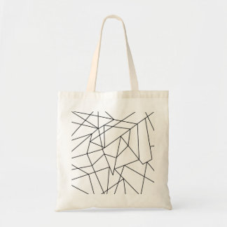 Simple Modern Black and White Geometric Pattern Tote Bag