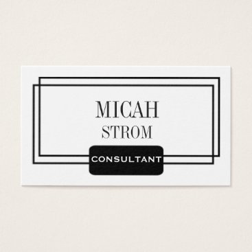 Professional Business Simple Modern Black Logo Design Business Card