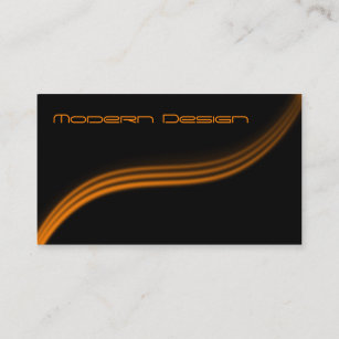 Black and orange business cards templates zazzle simple modern black orange swoosh business card colourmoves