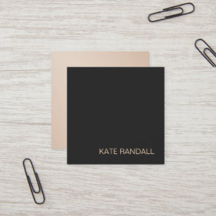Backside business cards templates zazzle simple modern black professional gold backside square business card colourmoves