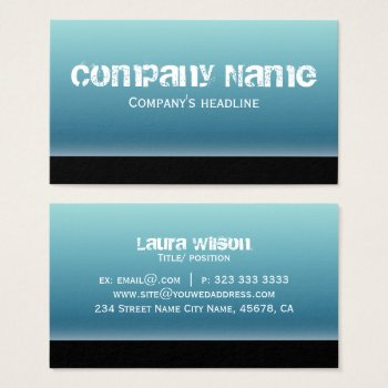 Simple Modern Blue Professional Business Card by RainbowChild_Art at Zazzle