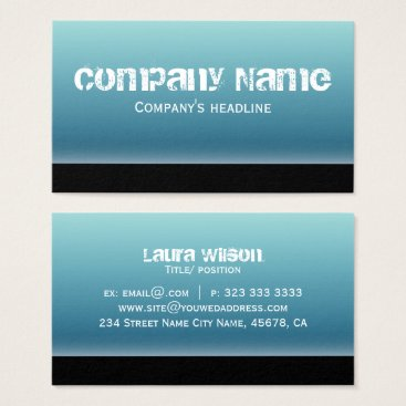 Professional Business Simple Modern Blue Professional Business Card