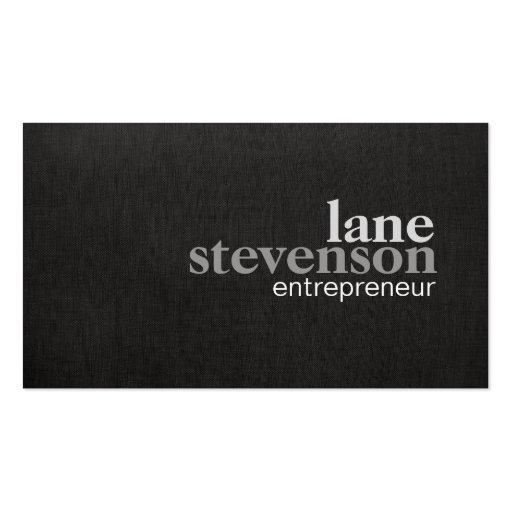 Entrepreneur business card templates page3 bizcardstudio simple modern bold font linen look black business card template colourmoves