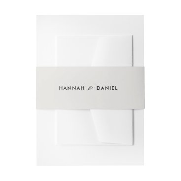 Beach Themed Simple Modern Chic Wedding Invitation Belly Band