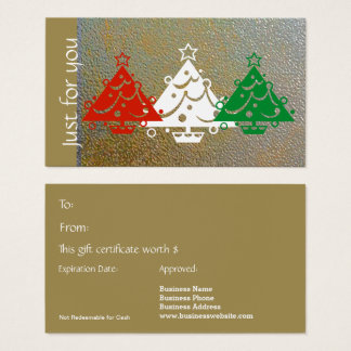 Simple Modern Christmas Red Green Gold Gift Card