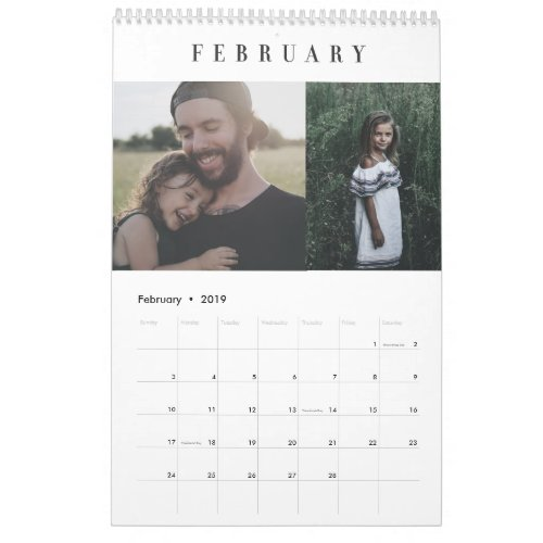 Simple Modern Custom Photo Calendar