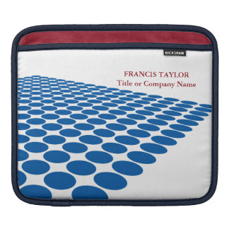 Simple modern dark blue halftone pattern … iPad sleeve