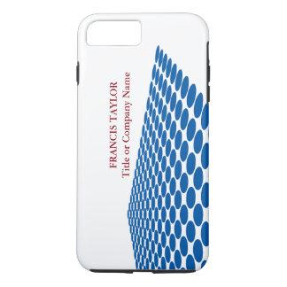 Simple modern dark blue halftone pattern … iPhone 7 plus case