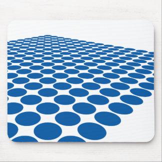 Simple modern dark blue halftone pattern … mouse pad