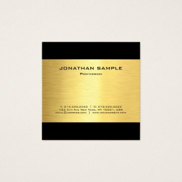 Lawyer Themed Simple Modern Elegant Gold Look Luxe Glamour Square Business Card